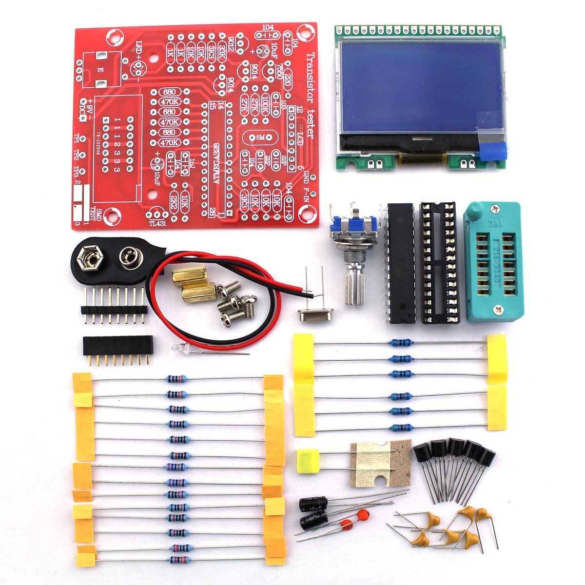 2017  Factory Price Original Hiland DIY M12864 Graphics Version ESR PWM Transistor Tester Kit 75 X 63 Mm