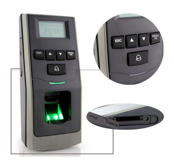 bw lcd screen f 6 fingerprint access control reader access control terminal wigand output in access control keypads from security protection on