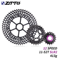 ZTTO 12s 11 52T SLR 2 Cassette MTB 12Speed blackWide Ratio UltraLight CNC Freewheel Mountain Bike Bicycle Parts for HG Hub Body
