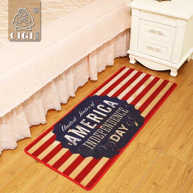 CIGI rouge rayé tapis cuisine chambre couverture tapis salon ...