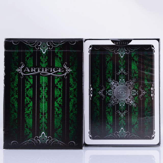 1deck Emerald Green Artifice Second Edition V2 Deck Ellusionist Bicycle Playing Cards Magic Tricks Magic Card 81232