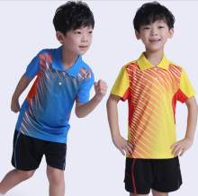 New children badminton shirts,Quick Dry men Table Tennis Polo jersey Breathable Boys/Girls Badminton And Tennis Sports shorts(China)