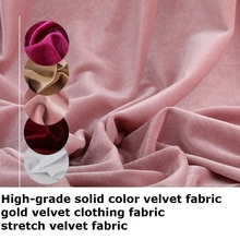 High-grade solid color velvet gold clothing fabric stretch