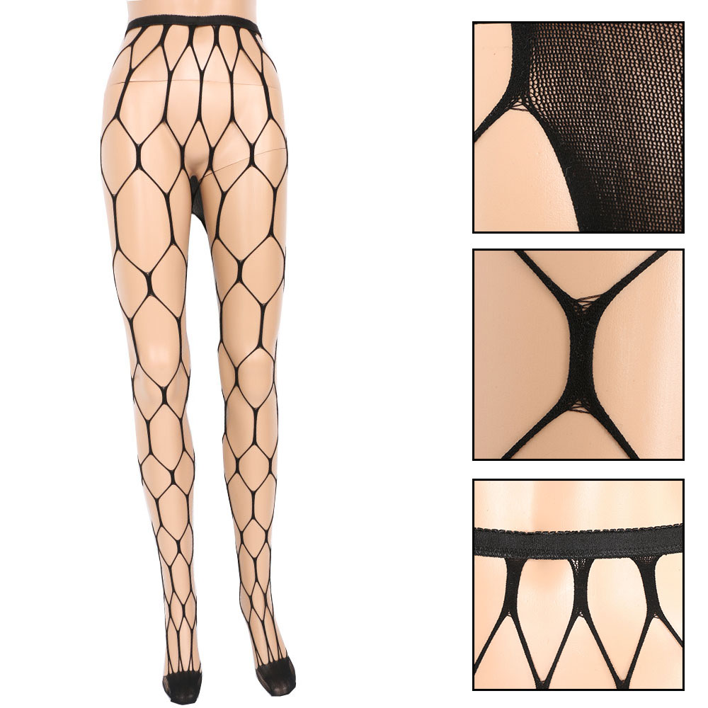 a072fed78 1PC Sexy Big Fishnet Stockings Black Color Sultry Hexagon Net Pantyhose  Tight-in Tights from Women s Clothing   Accessories on Aliexpress.com