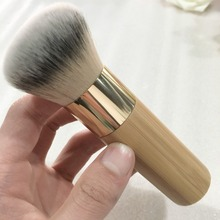 2016 Fashion Professional Beauty brush beautiful wood color gold tube Super soft fiber hair makeup brush free shipping GH-S389