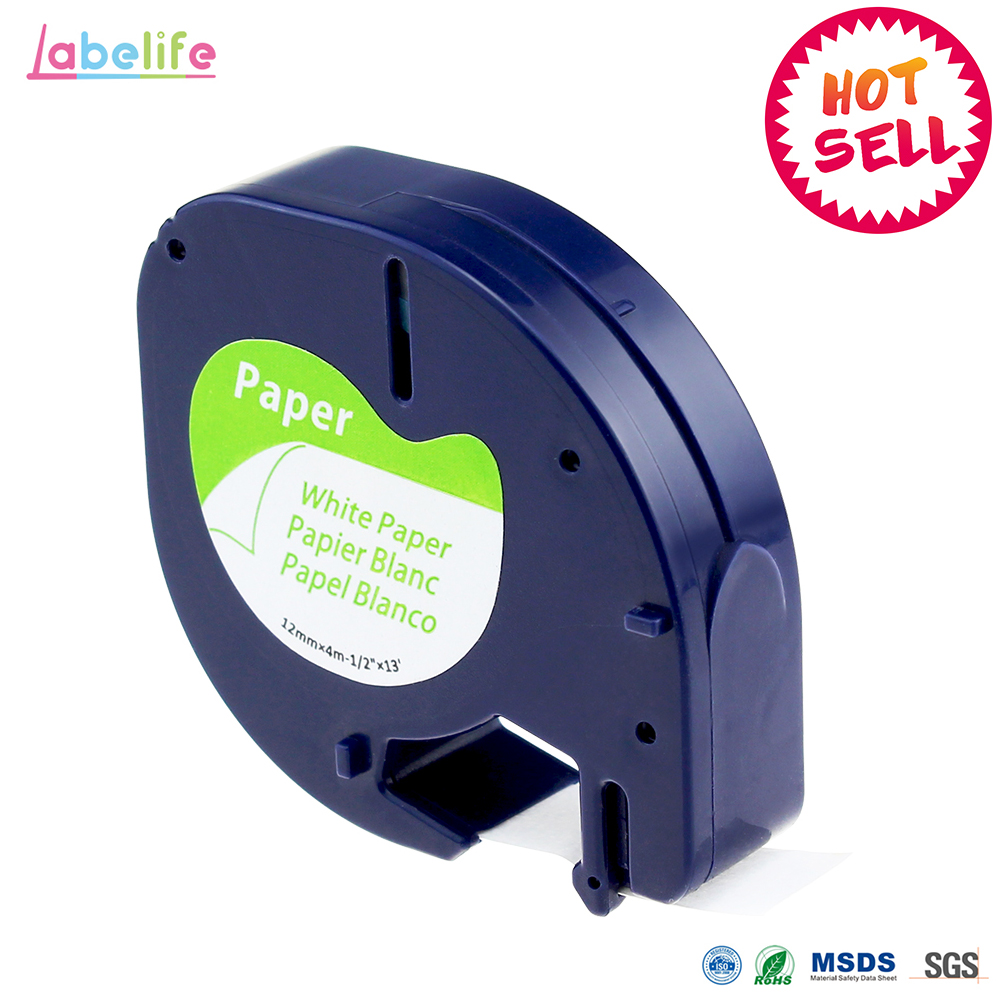 Labelife 1pcs DYMO LetraTag Label Tape 91200 Black on White Paper 1 91200 Marker Ribbons 91330 for DYMO label Printer for 11.11 30pk dymo 91201 letratag white plastic label dymo lt91201 label 12mm 4m black on white label tape