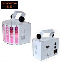מצוין חדש Led פרפר שלב אפקט אור 30 w RGBWA UV חשמלי מסתובב מנוע 6x3 w 6 צבע מנורת DMX 6 ערוצים לבן פגז-באפקטי תאורה לבמה מתוך פנסים ותאורה באתר
