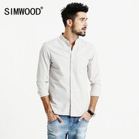 SIMWOOD 2017 New Spring Summer Casual Shirts Men 100 Cotton Slim Fit CS1598