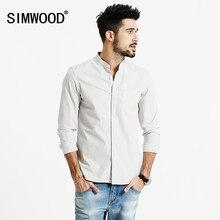 SIMWOOD 2017 Neue Herbst Fashion Casual Shirts Männer 100% Baumwolle Slim Fit Hohe Qualität Marke Kleidung Plus Größe CS1598