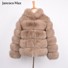 Jancoco Max Women Real Fox Fur Hood Coats Fashion Style Jacket High Quality Winter Warm S7254