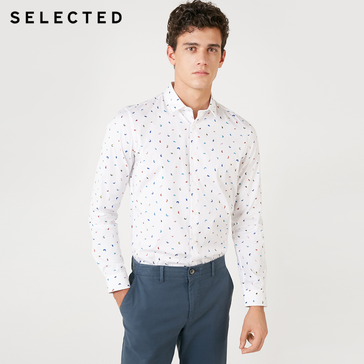SELECTED Men's Slim Fit 100% Cotton Shirt S|418405522
