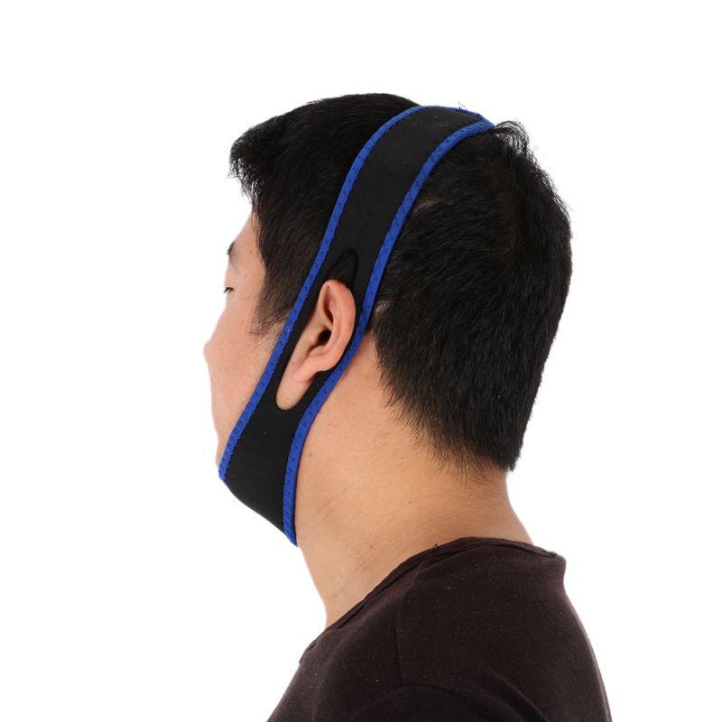 Новый храпа пояс для Для мужчин Для женщин маска для сна массажер против храпа пояс Храп Стоп оголовье Чин челюсть Поддержка ремень