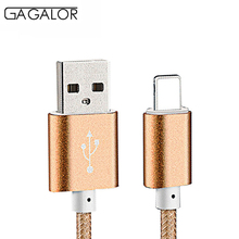 1M Nylon Braided Wire Harness Device Aluminum Alloy USB Charging Data Cable Transfer for iPhone 5
