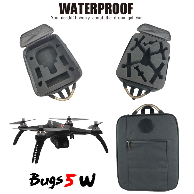 Waterproof Durable Handheld Bag Carrying Bag Protective Storage Bag Shoulder Backpack For MJX Bugs B5W RC Quadcopter Drone Parts