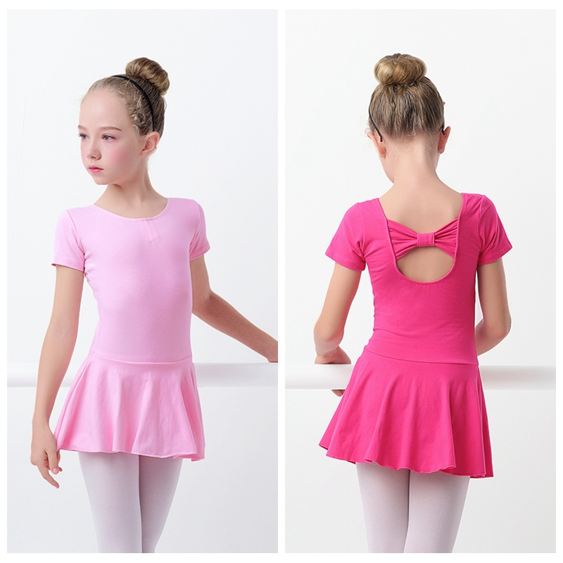 Hot Sale Girls Kids Ballet Leotard Dress Pink Ballet -1564