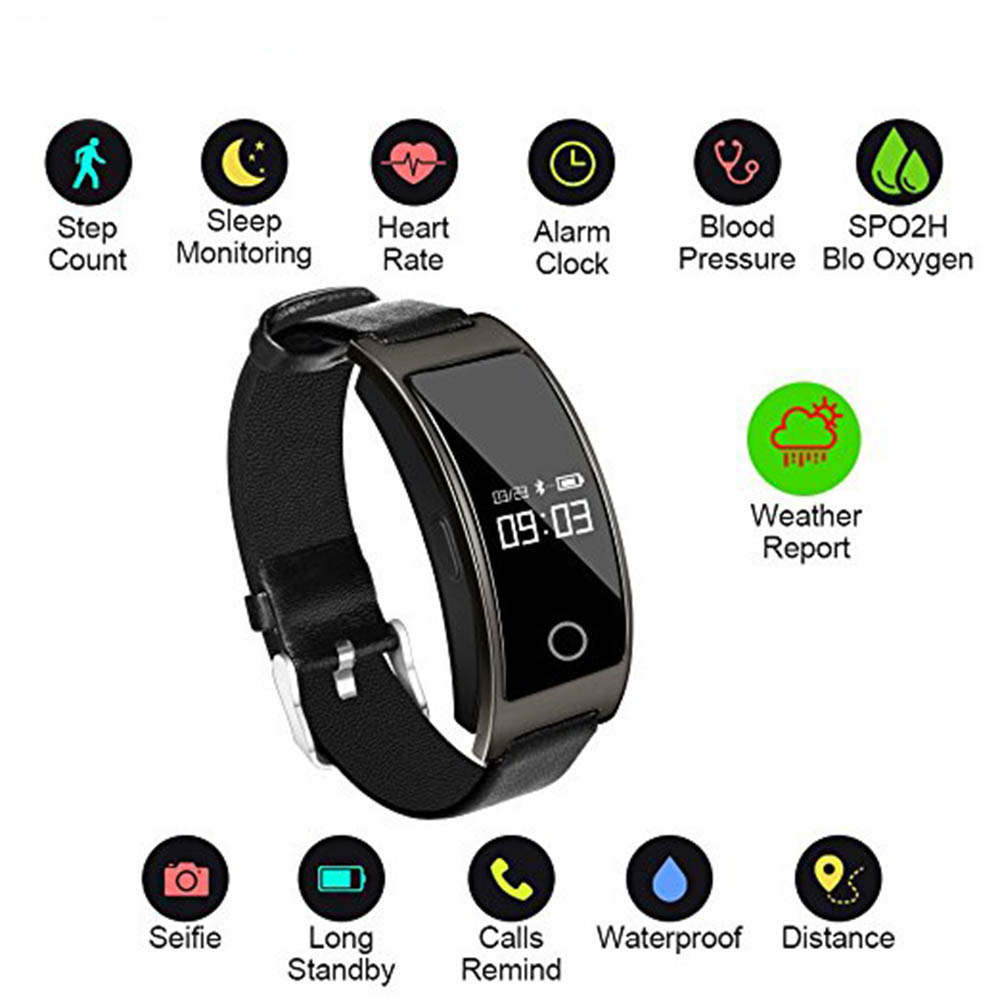 XKF-3 Smart Band Blood Pressure Heart Rate Monitor Wrist Watch Intelligent Bracelet Fitness Bracelet Tracker Pedometer Wristband