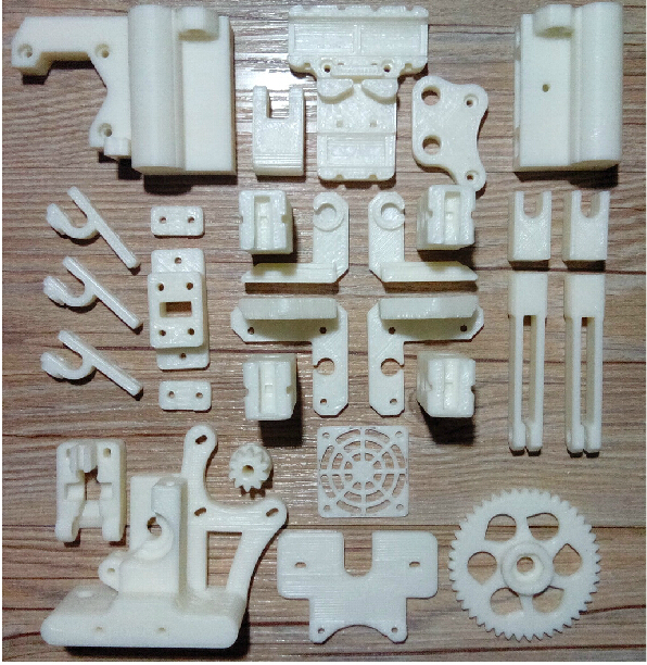 Reprap Prusa i3 3D printer printed parts kit white color ABS free shipping new 26pcs abs printed parts kit for reprap prusa i3 rework black pla 3d printer diy durable quality
