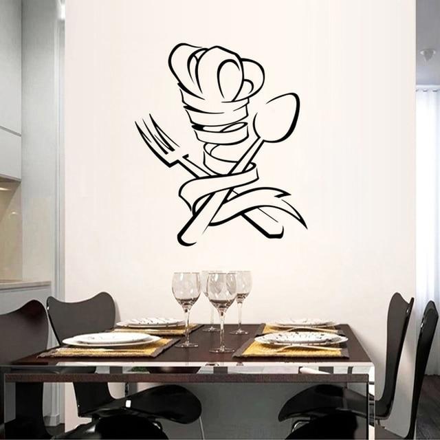 Creative Chef Graphics Restaurant Kitchen Wall Stickers Home Decor PVC Waterproof Art Wallpaper JG1496