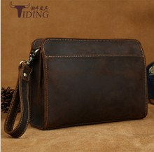 man vintage day clutches handbags genuine leather 2018 men business dress brown fashion casual big travel day clutch bags цена