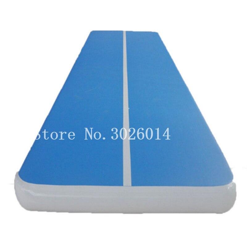 Livraison gratuite 6*2*0.2 m piste de plancher d'air Tumbling tapis de gymnastique tapis de sol Airtrack tapis de gymnastique gonflable tapis d'atterrissage avec une pompe
