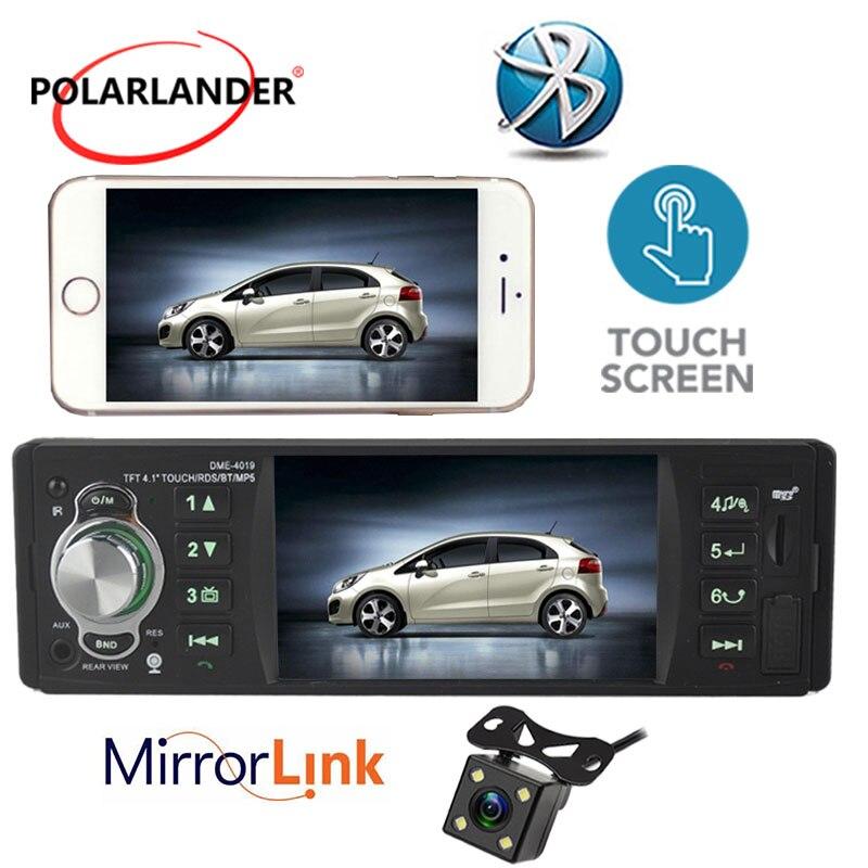 Autoradio Bluetooth MP5 Mp5 lecteur doigt écran tactile lien miroir audio stéréo 4 pouces 1 din radio cassette lecteur Autoradio RDS - 4