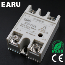 1pcs Solid State Relay Module SSR-75VA 75A 500K ohm TO 24-38