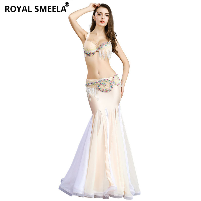 2019 Free Shipping Belly Dance Clothes Stage Performance Dance Wear Diamond 2pcs Set Professional Belly Dance Costume Set--8826