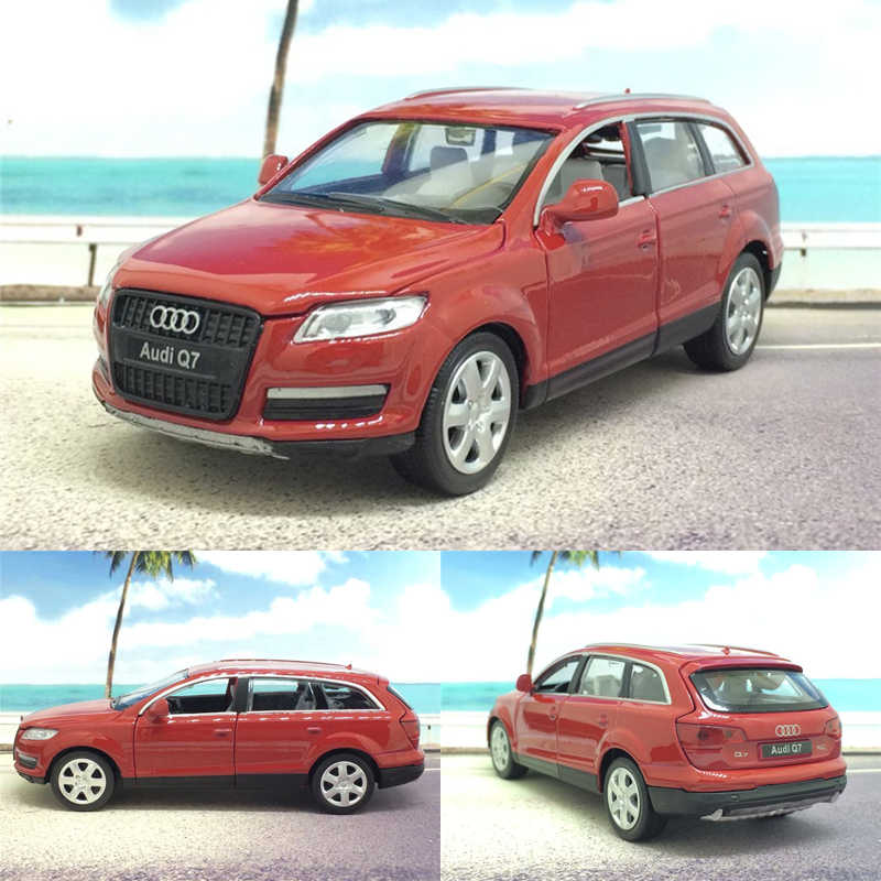 Audi Q7 1:32 Alloy Model 6 Colors Acousto-optic With Pull Back Flashing Toy Car Gift For Kids Free Shipping