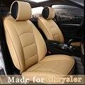 Personalizar Cuero Cubierta de Asiento de Coche para Chrysler 300c ciudad y país pacifica 5 Cojín Del Asiento 4 Temporada Asiento Proteger Manta 4811