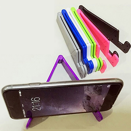 Universal Foldable Cell Phone V-Shape Stand Holder Mount For Smartphone Tablet