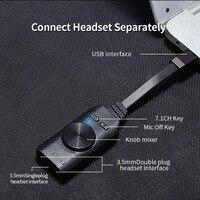 Аудио Usb интерфейс Виртуальный 7,1 канальный аудио Usb адаптер Звуковая карта адаптер 3,5 мм микрофон и аудио свободный диск один ключ 7,1 CH EMC