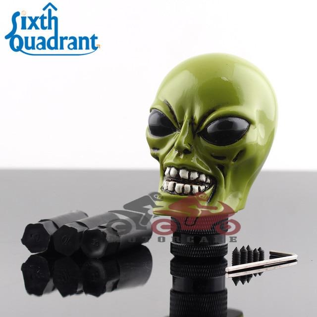 universal resin green aliens head car shifter gear shift knob