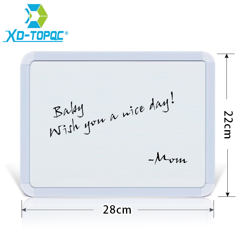 XINDI New 22*28cm Dry Erase Magnetic Whiteboard Plastifc Frame White Bulletin Board On Fridge Kids Message Drawing Boards WB02