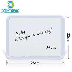 XINDI Novo Plastifc 22*28 cm Seca Apagar Lousa Magnética Quadro Branco Quadro de Avisos Na Geladeira Crianças Mensagem Desenho placas WB02