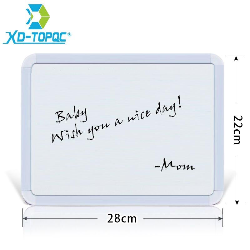 XINDI nuevo 22*28 cm borrado en seco pizarra magnética Plastifc marco blanco anuncios en nevera niños mensaje dibujo tableros WB02