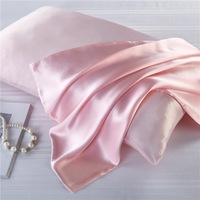 both Side 100% Mulberry Silk Pillowcases Envelope Pure Silk Pillow Case Pillowcase for Healthy Sleep pink color5