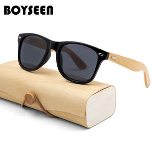 BOYSEEN Wood Sunglasses Oculo Lunette Shades Sport-Goggles Gold-Mirror Retro Design Women Brand