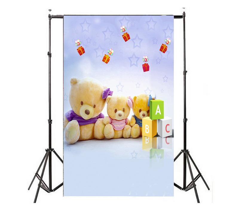 New Bear Newborn Baby Cartoon Photography Backdrops Childrens ABC Gift Photo Studio Background