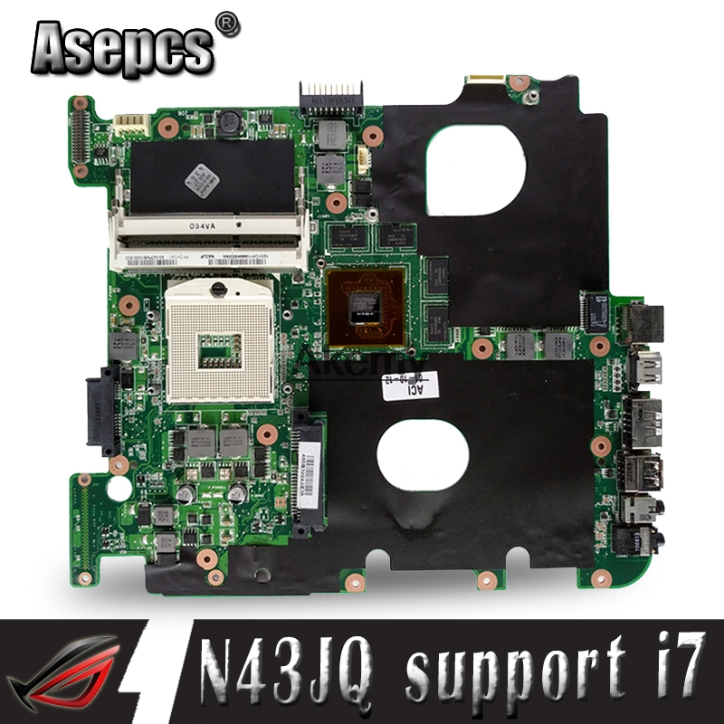 N43JQ mainboard For ASUS N43J  N43JQ  laptop motherboard N43JQ motherboard Test 100% original  1G video card i7 cpuN43JQ mainboard For ASUS N43J  N43JQ  laptop motherboard N43JQ motherboard Test 100% original  1G video card i7 cpu