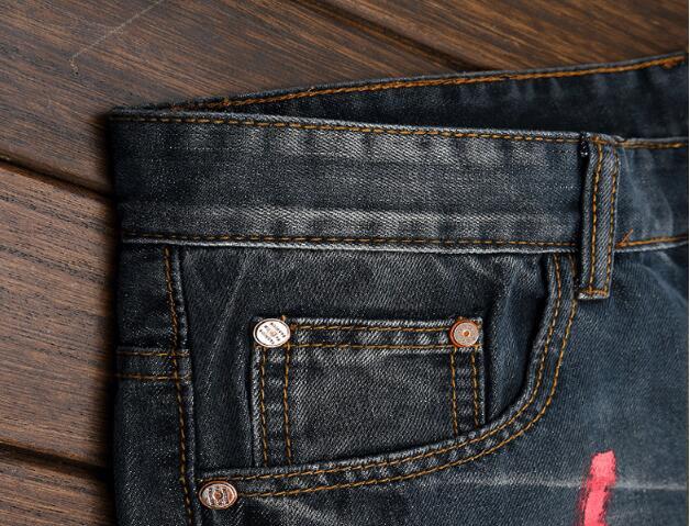 Black Blue Ripped Jeans For Men 3