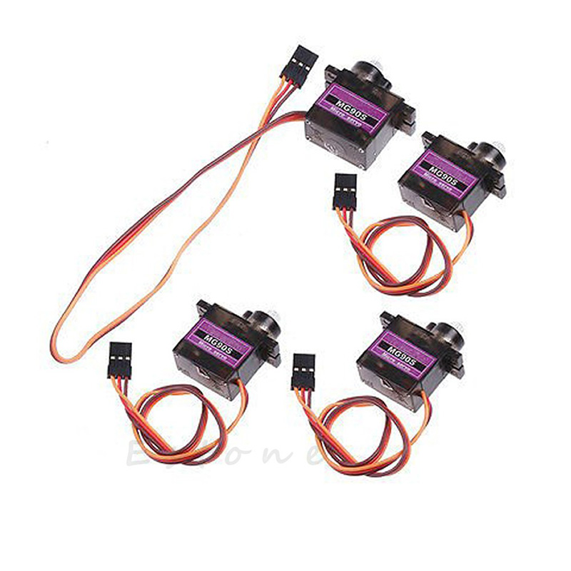 4pcs MG90S Metal Gear Servo Micro Servo For Car Boat Plane  New high quality airplane helicopter mg90s metal geared micro 9g servo for plane boat 450 car diy robot