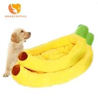 Fashion Pet Cat House Dog Bed Banana Shape Dog House Cute Pet Kennel Nest Warm Dog Sofas Cat Sleeping Bed S XL DOGGYZSTYLE