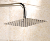 6'' Ultrathin Water Saving Square 304 Stainless Steel Top Rainfall Shower Head Free Shipping