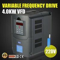 5HP 4KW 3 Phase 220 V 250 V Variable Frequency Drive VFD Low Ausgang HOHE GRADE Auto Spannung regulierung (AVR) technik-in Holzbearbeitungsmaschinen-Teile aus Werkzeug bei