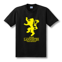 2017 New US Drama T Shirt Ice And Fire Song Right Game Lannister Short Sleeve T