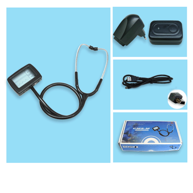 CE Approved General Medical CMS-M Multi-fuctional Electronic Stethoscope With ECG waveform + SPO2 Monitor Probe