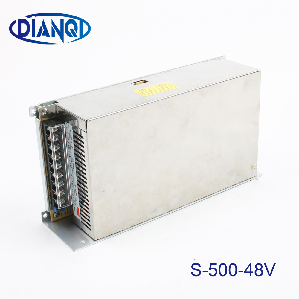500W 48V <font><b>10A</b></font> Single Output Switching power supply 220V or 110V INPUT for LED Strip light AC to DC led driver S-<font><b>500</b></font>-48 image