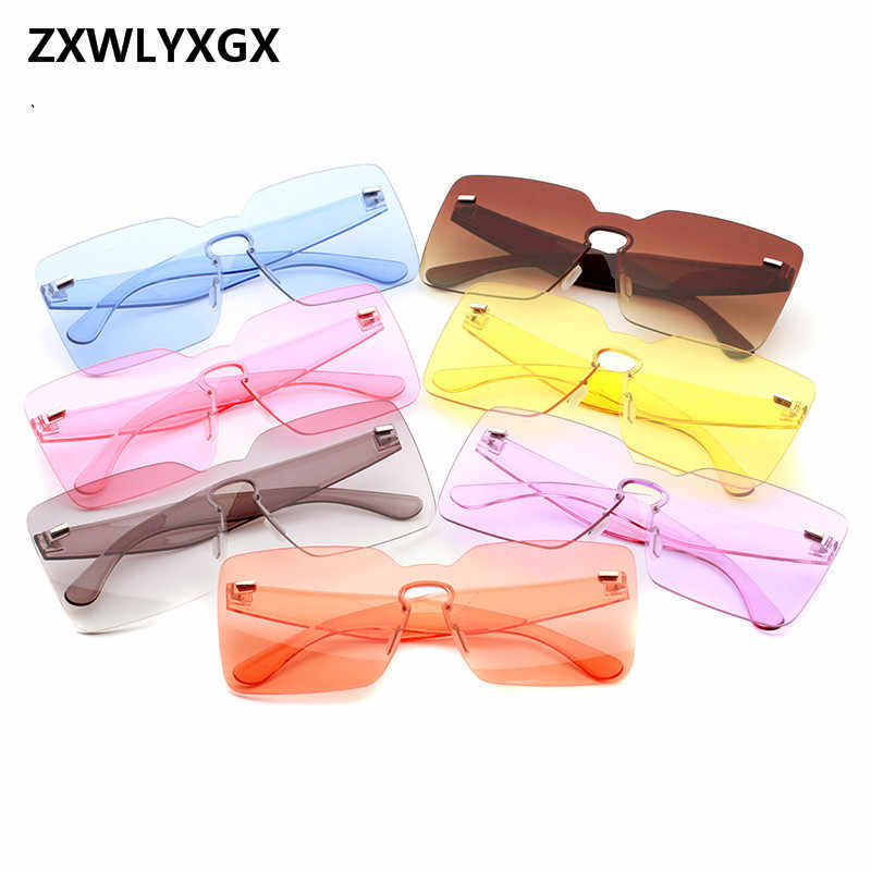 e7f6a8b00f5a ZXWLYXGX 2018 Fashion Goggle New Sunglasses Women Men Brand Wholesale  Eyewear Mirror oculos gafas de sol