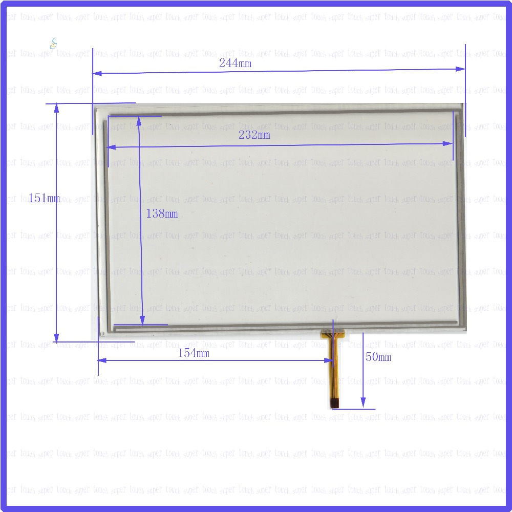 ZhiYuSun  244mm*151mm NEW  10.4inch Touch Screen 4 wire resistive USB touch panel overlay kit   244*151 this is compatible 19 inch infrared multi touch screen overlay kit 2 points 19 ir touch frame
