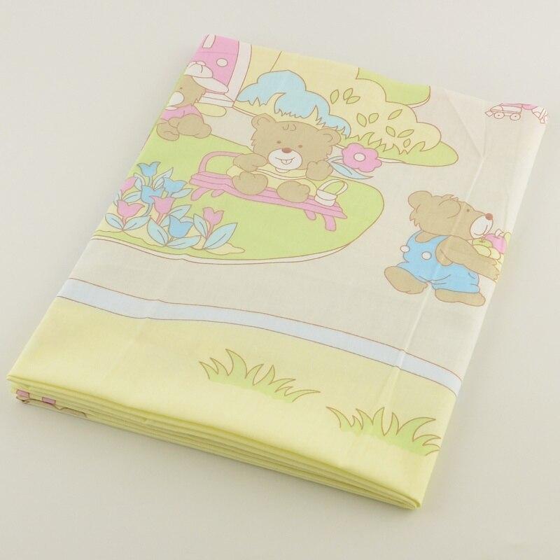 ⊰50cmx160cm/piece sky blue cotton fabric cartoon happy bear design ...